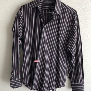 Express black collared shirt